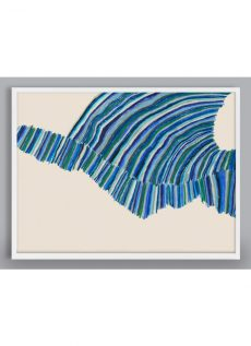 blue green abstract art print