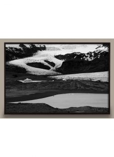 black and white photograph of iceland