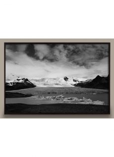 black and white landscape photograph of iceland