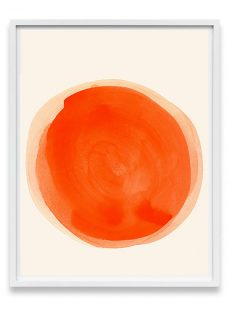 orange abstract art print
