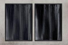 monochrome abstract art print