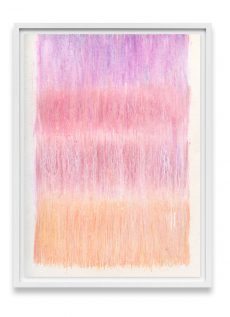 pink and peach abstract art print