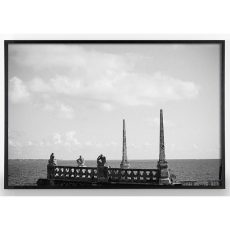 Black and White Photograph of boat