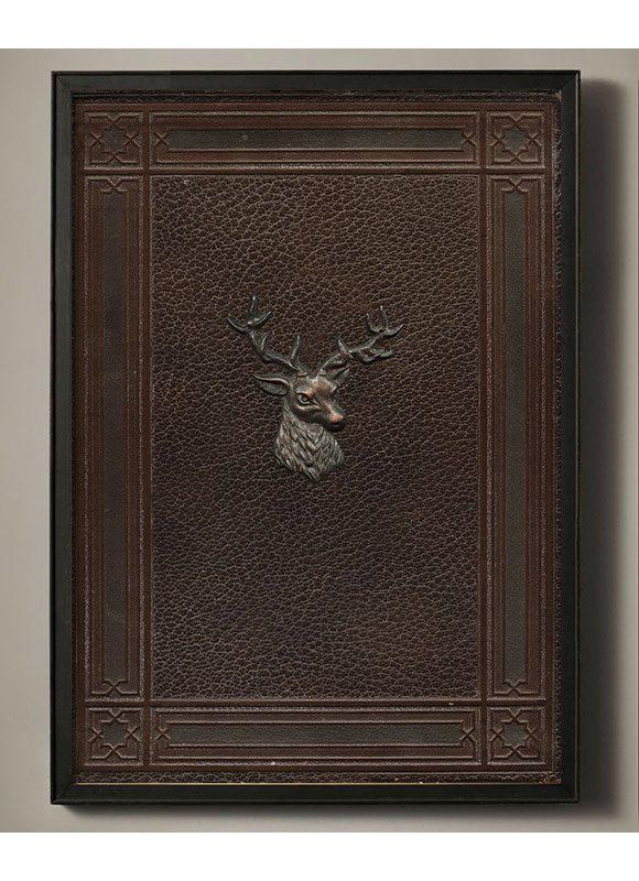 antique deer head art print