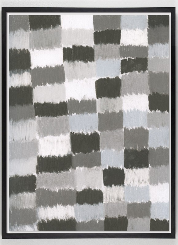 black and white grid art