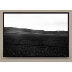 black and white beach photograph