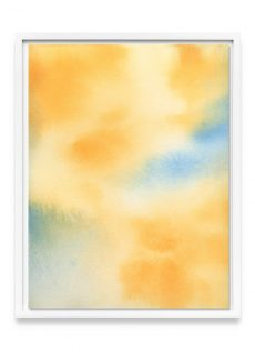 yellow watercolor painting print