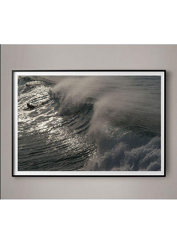 crashing waves photograph