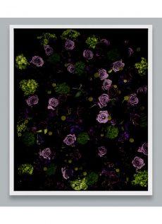 goth flower wall art