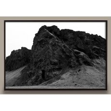 black and white mountain photograph