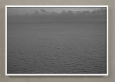 black and white ocean photograph