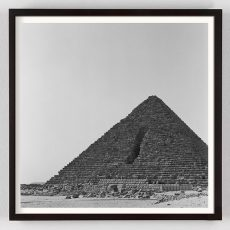 Giza Egypt Pyramid Photograph in Black and White