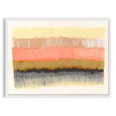 colorful apricot abstract art print
