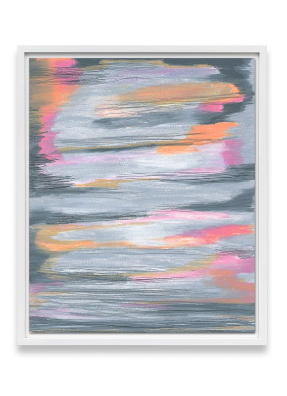grey and peach abstract art