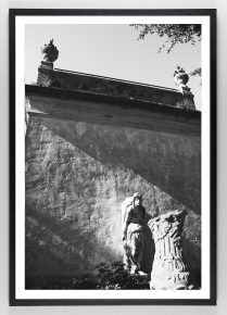 Black and White Photograph of Statues
