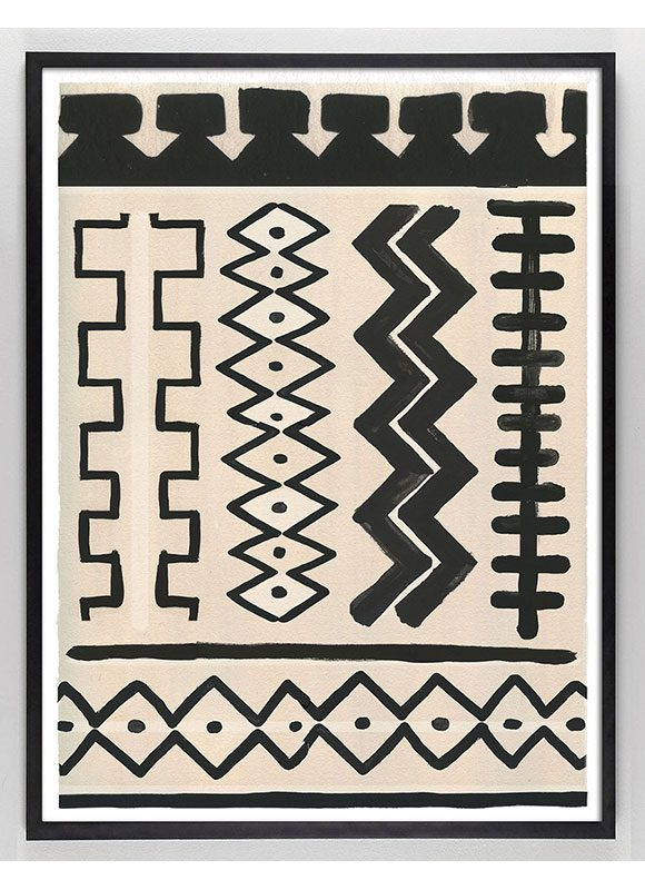 tribal art, painted textile