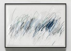 abstract art with blue and grey